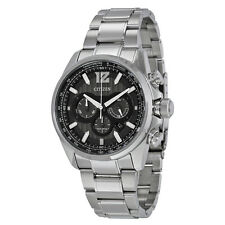 Citizen Shadowhawk Eco-Drive Chronograph Black Dial Stainless Steel Mens Watch