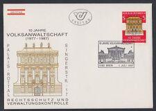 Austria Austria 1987 FDC mi.1891 edificio Building Justice Palace [af274]