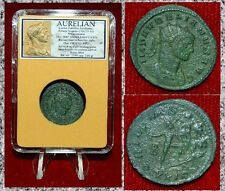 ROMAN EMPIRE COIN AURELIAN SOL STANDING HOLDING GLOBE FOOT ON SEATED CAPTIVE