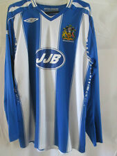 Wigan Athletic 2007-2008 Home Football Shirt Size Large LS /8514