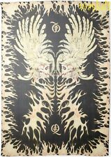 "ALEXANDER MCQUEEN black SKULL and FLAME silk chiffon 76x48"" scarf NEW Authentic!"