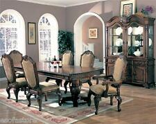 Formal Kitchen Dining 7pc set of Rectangular Table Upholstery Side & Arm Chairs