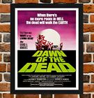 Framed Dawn Of The Dead Movie Poster A4 / A3 Size In Black / White Frame