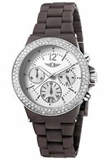 Invicta Women's Chronograph Silver Dial Date Fashion Brown Band Date Watch 4...