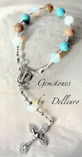 ✫GEMSTONES✫  HAND CRAFTED ONE DECADE  ROSARY CHAPLET