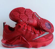 NIKE LEBRON XII LOW UNIVERSITY RED-REFLECTIVE SILVER SZ 10 [724557-616]