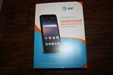 Brand NEW Blue AT&T GoPhone Alcatel Ideal 4G LTE 8GB Blue Prepaid Cell Phone