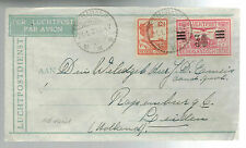 1931 Semapang Netherlands indies airmail Small cover to Holland