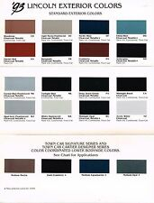 1993 LINCOLN COLOR Chip CHART Paint Brochure:CONTINENTAL,TOWN CAR,Mark 8,Cartier