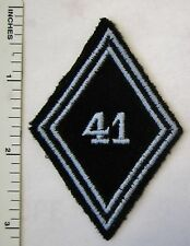 ORIGINAL Vintage FRENCH ARMY 41st HUSSARS CAVALRY SLEEVE DIAMOND UNIT PATCH
