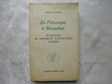DE RETRARQUE A MUSSOLINI. Evolution de sentiment nationaliste italien.