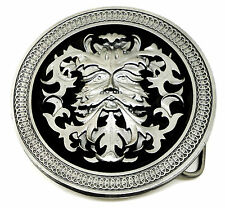 Green Man Belt Buckle Circular Round Highly Detailed Celtic Official Product