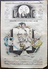 LA LUNE, redacteur en chef: F.POLO. 6 janvier 1867, n° 44. STRAUSS, chefs d'orch