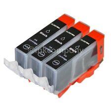 3 für CANON Patronen mit Chip CLI-521 bk IP 3600 IP 4600 MP540 MP 550 MP 560 NEU