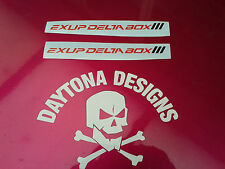 PAIR OF R1 YZF EXUP DELTABOX III CUSTOM DECALS STICKERS GRAPHICS