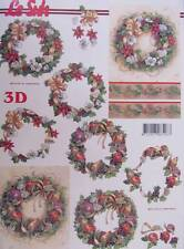 A4 3D Paper Tole Pretty Christmas Wreaths 2 pictures