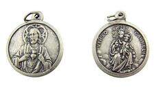 """MRT One Sacred Heart  & Our Lady Mount Carmel Silver Plate Medal Pendant Gift 1"""""""