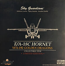 Witty Wings 1/72 F/A-18C Hornet, VFA-192 Golden Dragons (Diecast) - 72026-006