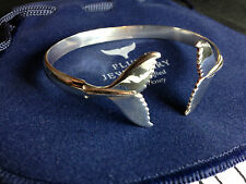 Humpback whale fluke bangle Sterling Silver Sea Shepherd, Fluke Jewellery