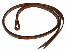 WESTERN HORSE BARREL RACING RACER OVER AND UNDER GENUINE LEATHER QUIRT WHIP