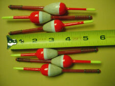 6 SPRING TYPE BALSA FLOATS RED MED PEAR SHAPED