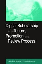 Digital Scholarship in the Tenure, Promotion and Review Process (History, Humani