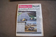 Motoring News 8 June 1988 Acropolis  Ele & Garrigues Rally Milwaukee 200 ETCC