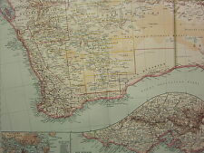 1907 DATED MAP SOUTH WEST AUSTRALIA SYDNEY PORT JACKSON ENVIRONS INSET VICTORIA