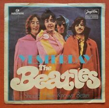 THE BEATLES-YESTERDAY/I SHOULD HAVE KNOWN BETTER YUGOSLAVIAN 7'' PS 1976