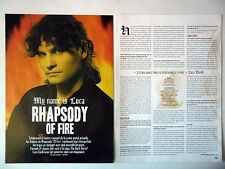 COUPURE DE PRESSE-CLIPPING :  RHAPSODY OF FIRE [2pages] 10/2006 Luca Turilli
