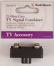 Signal Combiner 300-Ohm VHF & UHF Screw Terminals to 75-Ohm Male F Connector