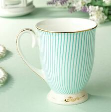 MUG Coffee High Tea cup Royal Princess Blue Fine Bone China Porcelain ceramic