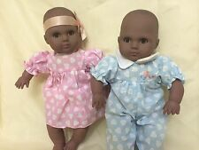 """Two Hearts"""" African American Lissi Vinyl Twin Collectible Dolls"""