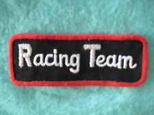 "Vintage Racing Team NASCAR Rally Road Uniform Patch 4 1/8"" X 1 1/2"""