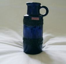 Scheurich 407 20 West German Textured Lava Handled Jug With Label