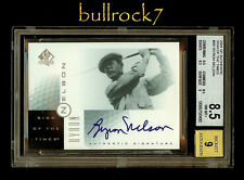 """2001 SP Authentic Golf Sign of the Times SOTT Auto """"DOUBLE"""" BYRON NELSON #1199"""