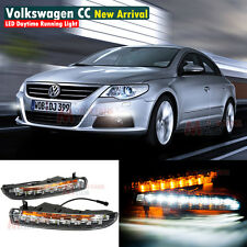 LED Daytime Running Light For VW Passat CC DRL 2009 10 11 2012 2013 With Signal