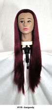 """28"""" Recurlable Human Hair Mix Blend Cosmetology Mannequin Head & FREE CLAMP (E)"""