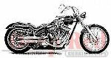 Deep Red Rubber Cling Stamp Motorcycle Chopper Bike