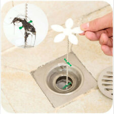2Pcs Bathroom Shower Drain Wig Chain Cleaner Hair Clog Remover Cleaning Tools