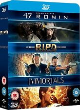 47 Ronin 3D / RIPD 3D / Immortals 3D [Blu-ray 3D Box Set] 3-Movie Collection