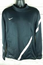 Nike Men's Large Dri Fit Burdenski Sportswear Thumb Sleeves Long Black Running