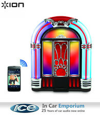 ION Jukebox Retro Speaker, USB in Bluetooth player, Plays iPod iPhone Android