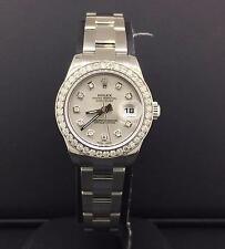 Rolex Datejust 26mm Ladies 1.3 CT Diamond Bezel Silver Dial New Style 179160