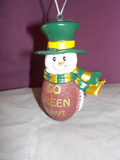 GREEN BAY PACKERS SNOWMAN TEAM SPIRIT ORNAMENT GO GREENBAY NEW WITH TAGS