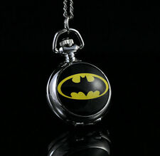 DC BATMAN Fashion Women Ladies Child Gril Boy Pocket Watch Necklace