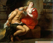 "Art Oil painting portraits Rubens ""Cimon and Pero"" In prison free shipping 36"""