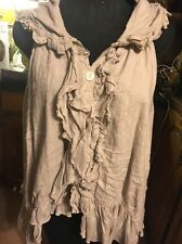 Genuine Magnolia Pearl Natural Linen One Size Blouse Or Top. It