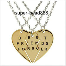 New 3set Choker Necklace Heart Pendant Best Friend Forever Necklace Jewelry HOT