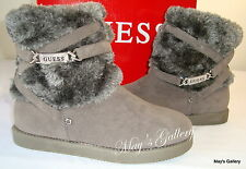 GUESS High Top  Faux Fur  Shoe Shoes Booties Boot  Boots Faux Suede Ankle Sz 7